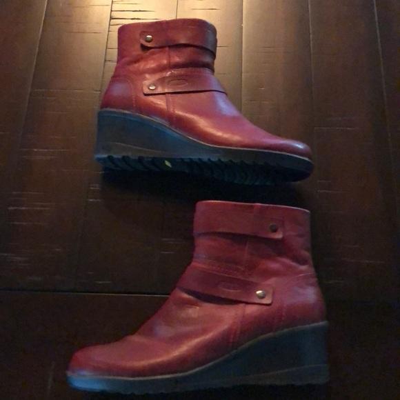Keen Shoes | Keen Deep Red Wedge Heel